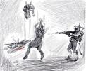 Cartoon about Terrorist attack in Ahvaz-Iran 2018